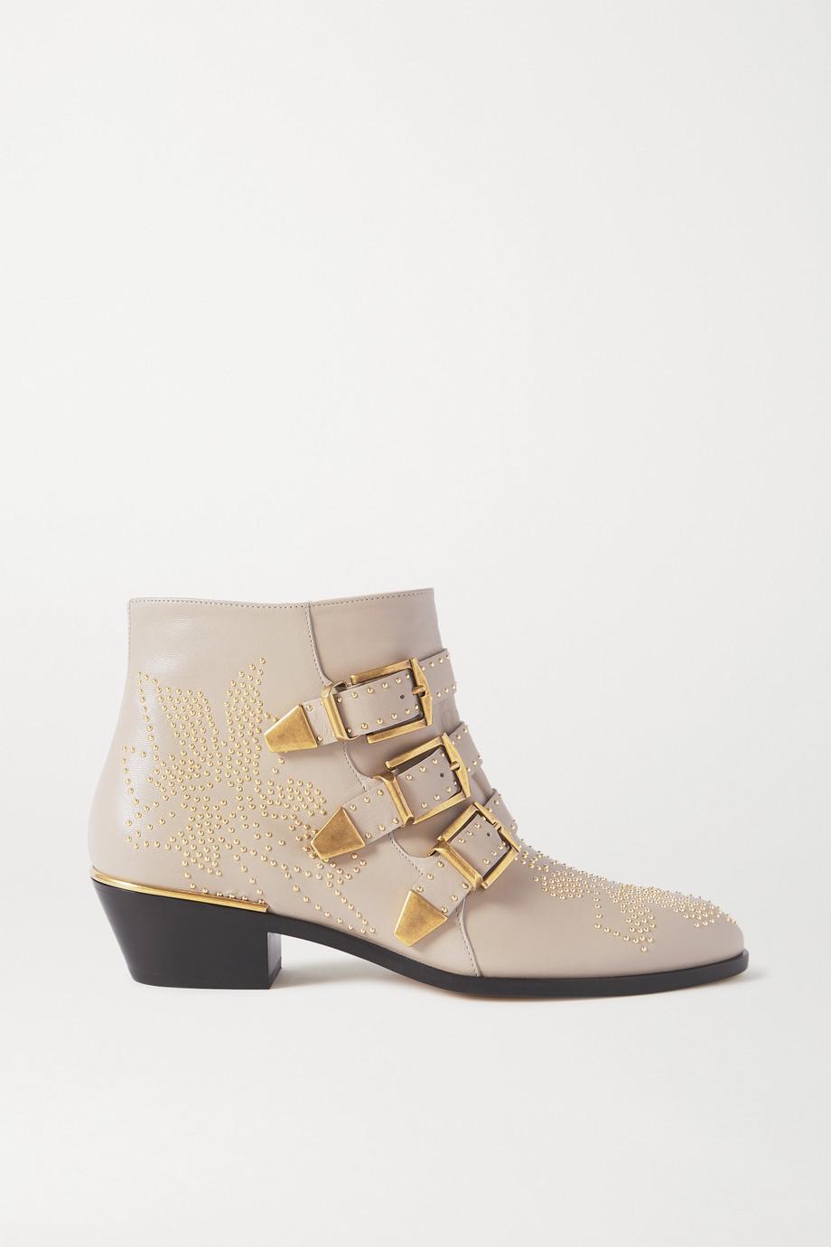 Chloé Susanna Ankle Boots aus Leder mit Nieten