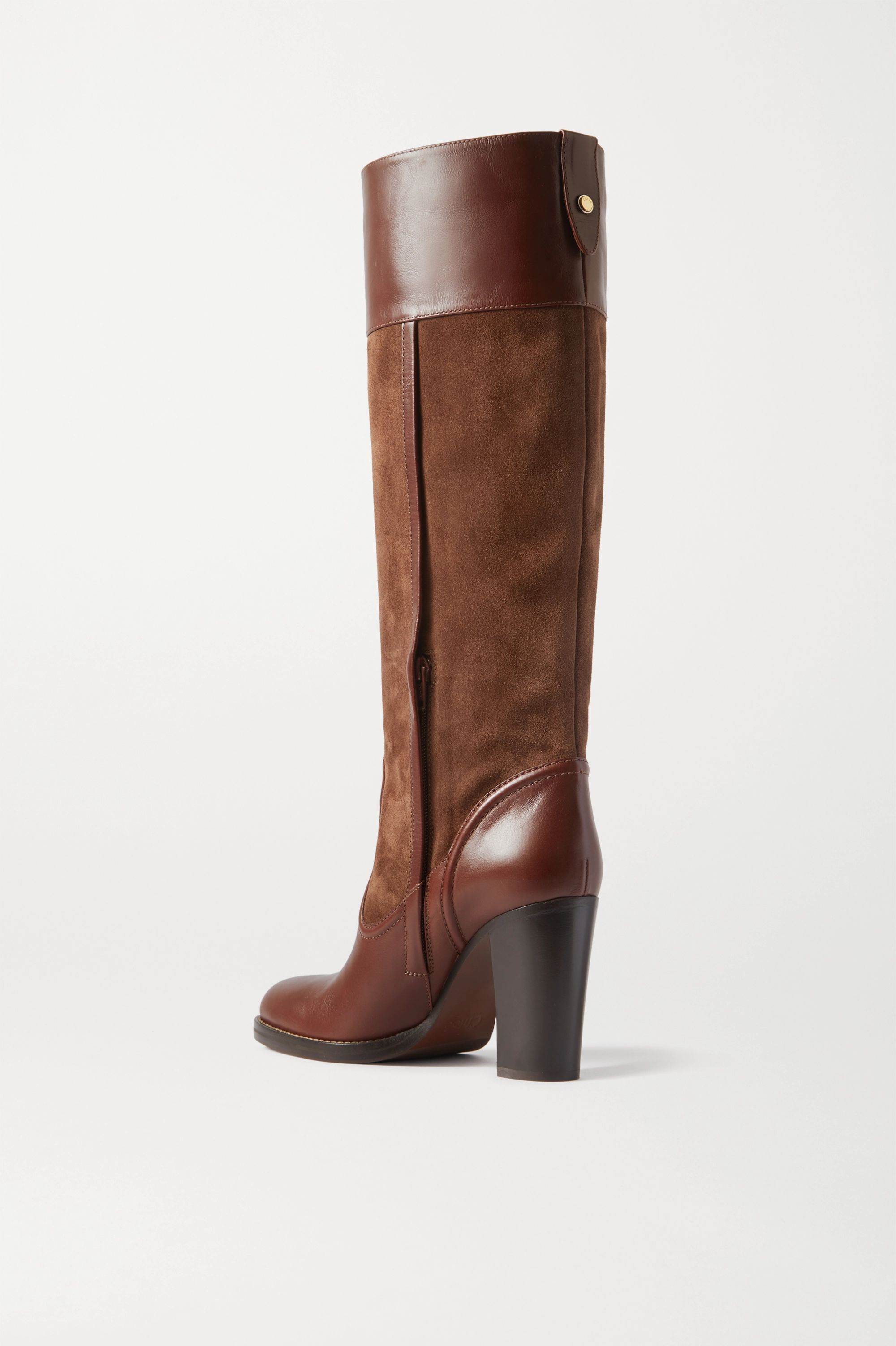 Chloé Emma suede and leather knee boots