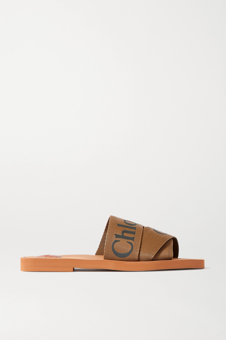 Chloé Woody logo-detailed canvas slides