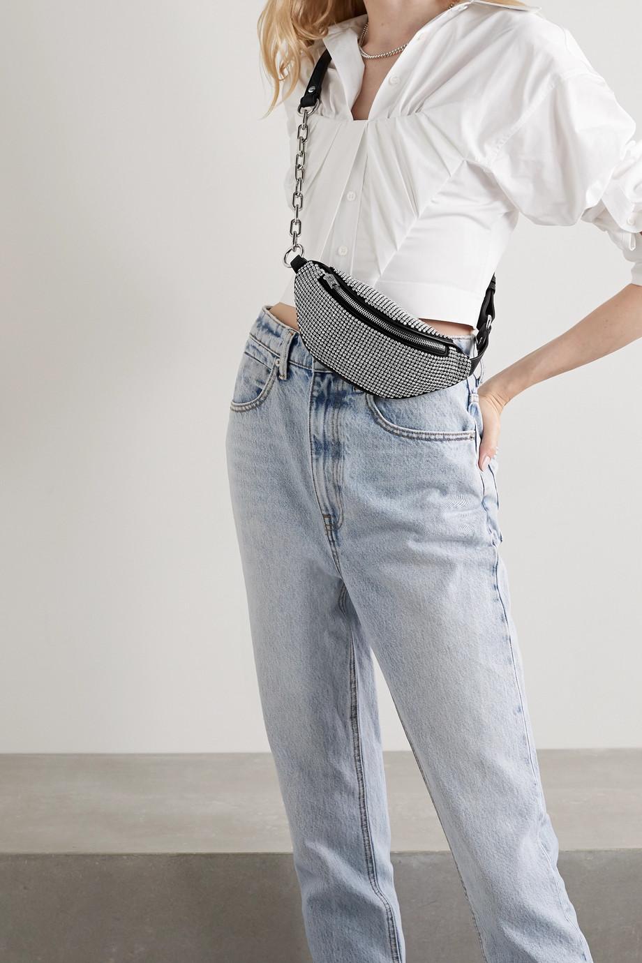 Alexander Wang Sac ceinture en cuir à cristaux Attica Mini