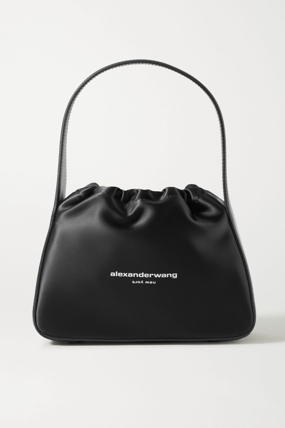 Alexander Wang Ryan small leather-trimmed printed satin tote