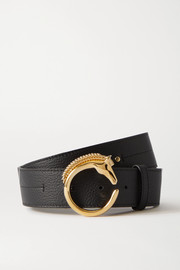 Chloé Embellished textured-leather belt