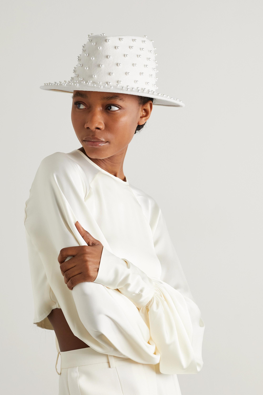 Eugenia Kim Walker embellished wool-felt fedora