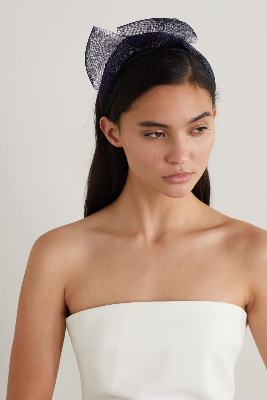 Eugenia Kim Mita tulle and satin fascinator