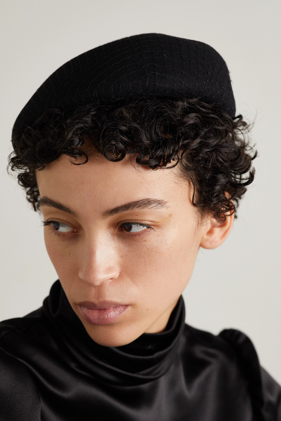 Eugenia Kim Coco 羊毛毡网布贝雷帽