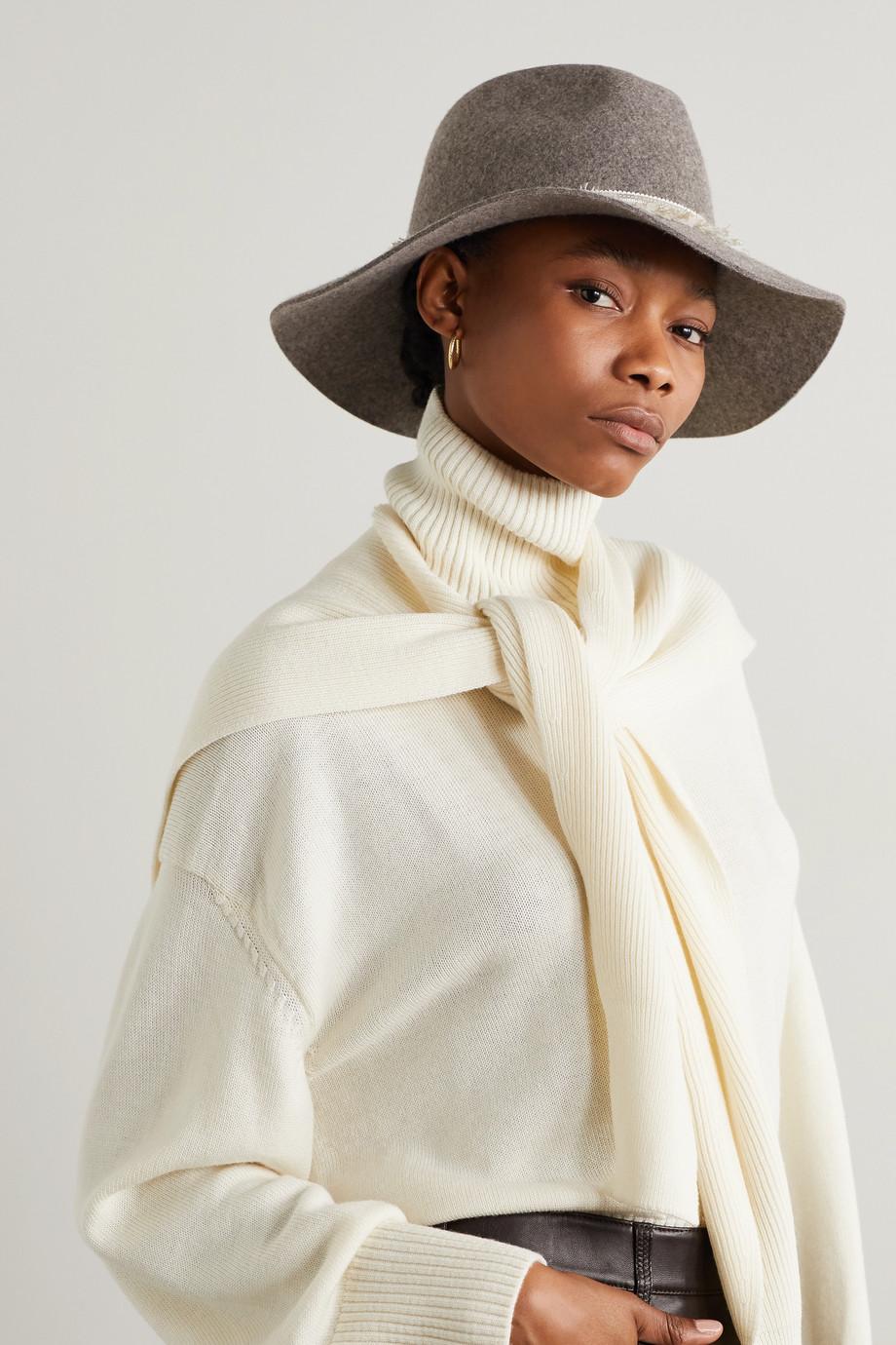 Eugenia Kim Georgina embellished wool-felt fedora