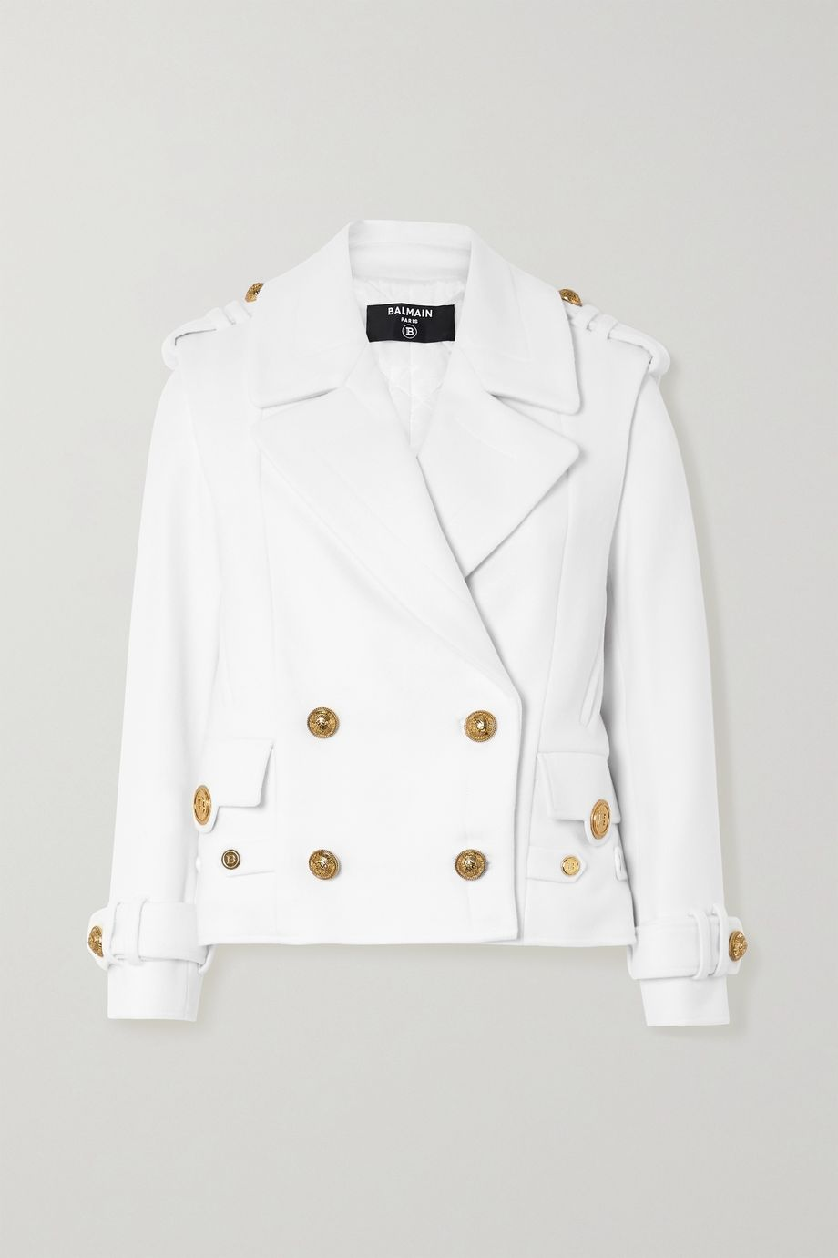 Balmain Double-breasted wool and cashmere-blend jacket
