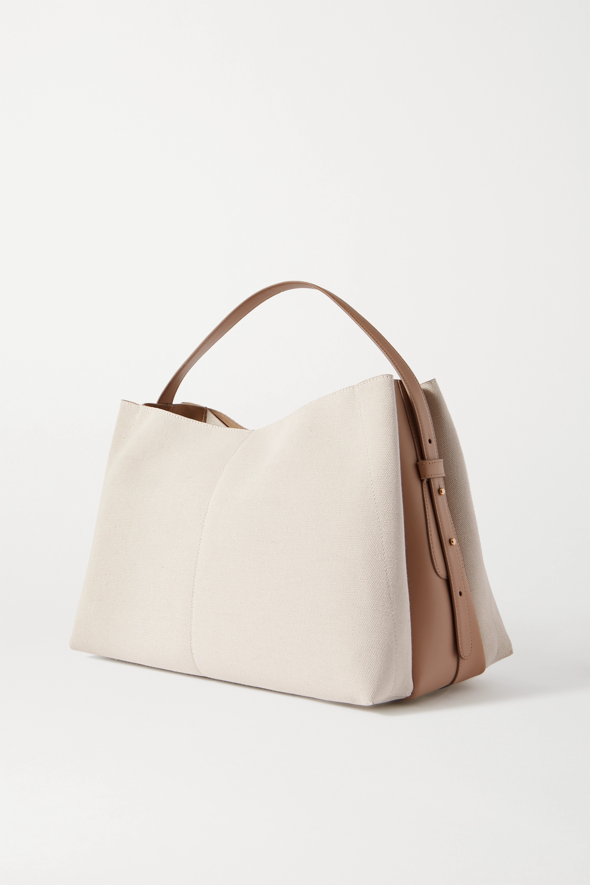Wandler Ava large leather-trimmed canvas tote