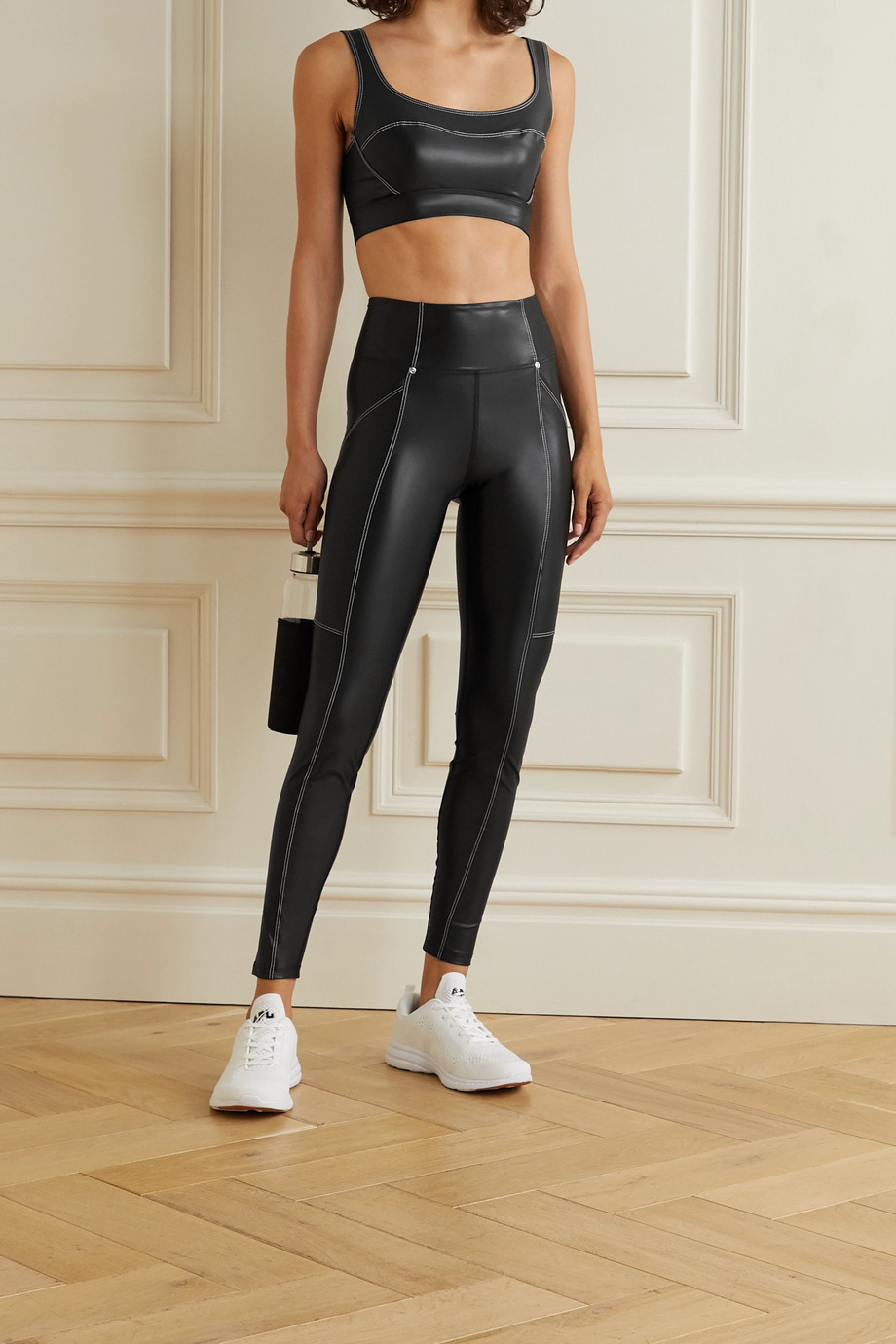 Heroine Sport Allure coated stretch leggings