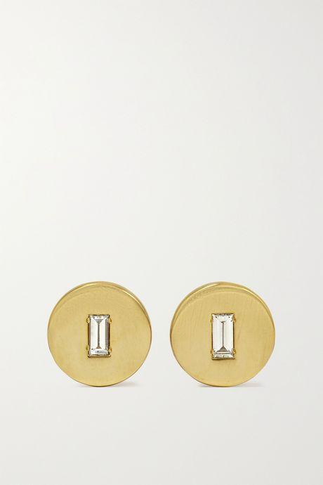 Gold 18-karat gold diamond earrings | Ileana Makri m5nBMX