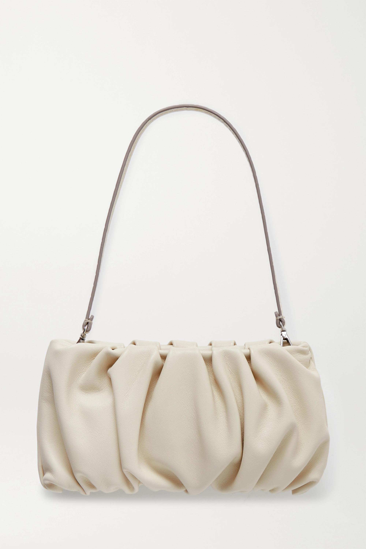 STAUD Bean gathered leather shoulder bag