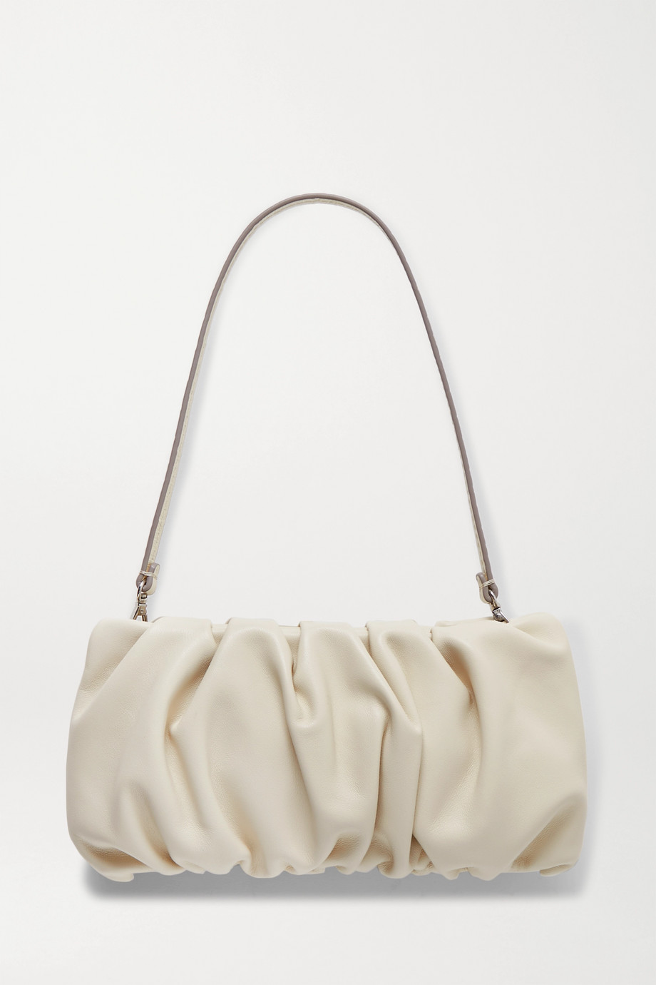 STAUD Bean gathered leather shoulder bag