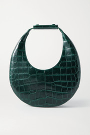 STAUD Moon croc-effect leather tote