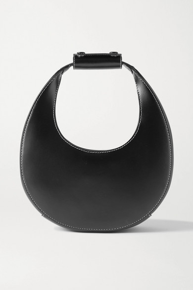 STAUD - Moon Mini Leather Tote - Black