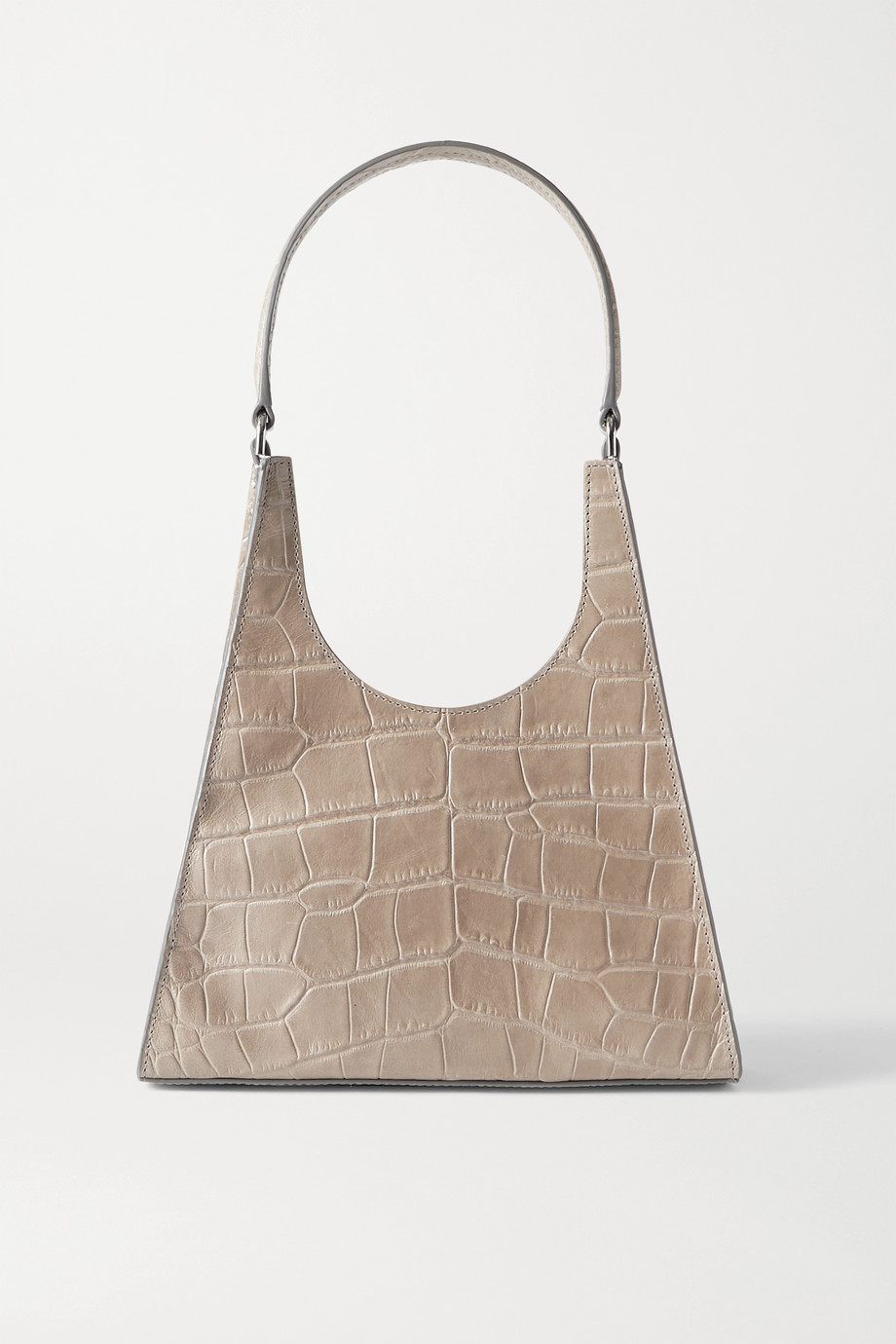 STAUD Rey croc-effect leather tote