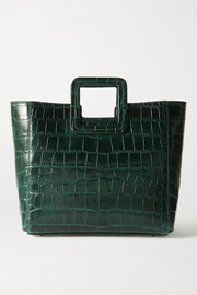 STAUD Shirley croc-effect leather tote