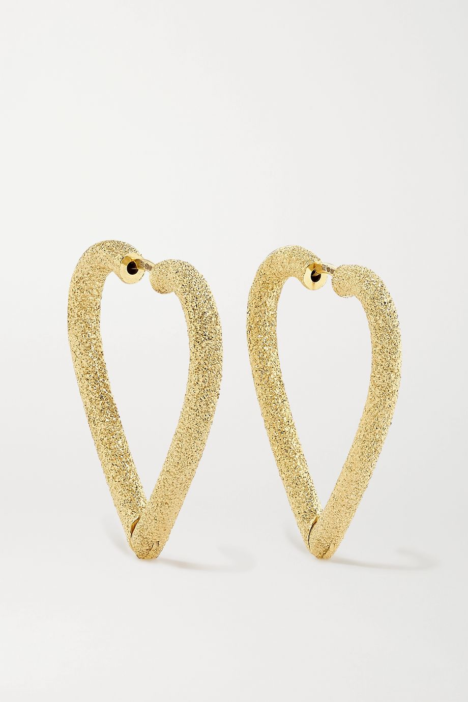 Carolina Bucci Cuore 18-karat gold hoop earrings