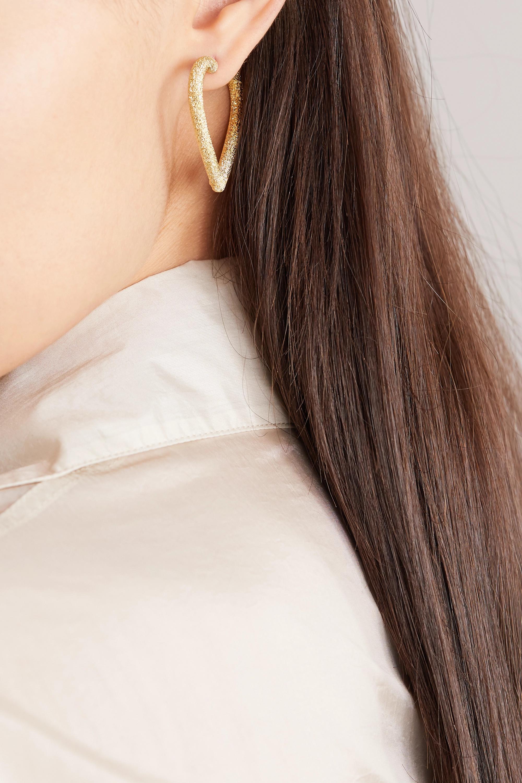 Carolina Bucci Cuore 18-karat gold hoop earrings