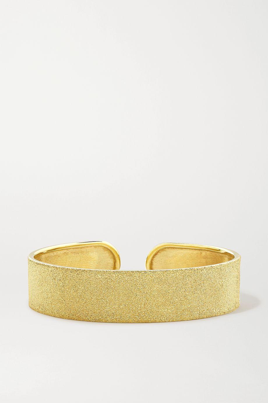 Carolina Bucci Florentine 18-karat gold cuff