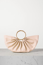Cult Gaia Banu mini pleated leather tote
