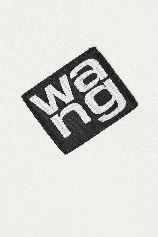 alexanderwang.t Stehkragenoberteil aus Stretch-Strick mit Logoapplikation