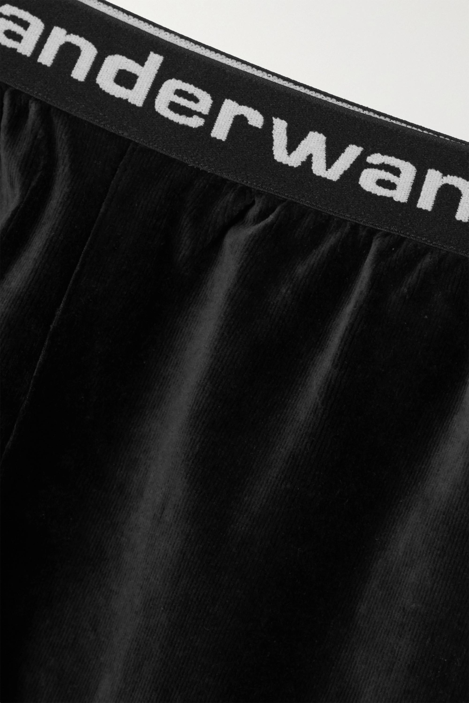 Black Cotton-blend Corduroy Shorts   Alexanderwang.t