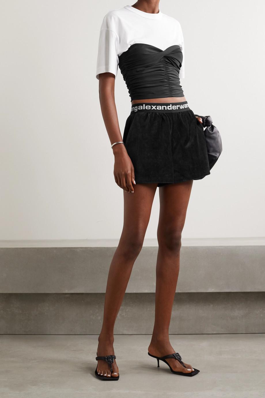 alexanderwang.t Cotton-blend corduroy shorts