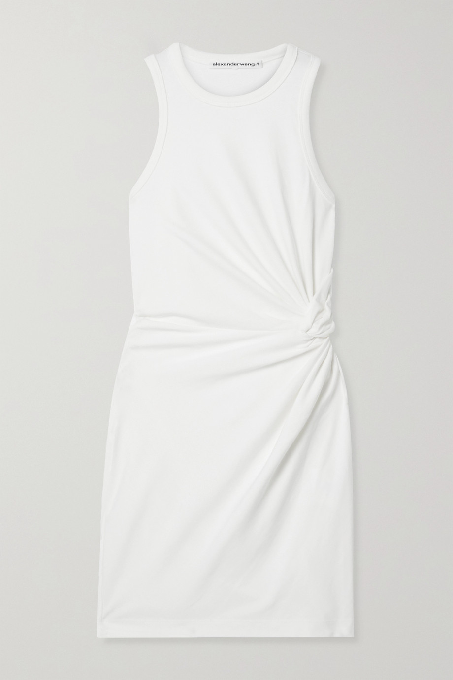 alexanderwang.t Minikleid aus Jersey aus einer Baumwollmischung mit Knoten