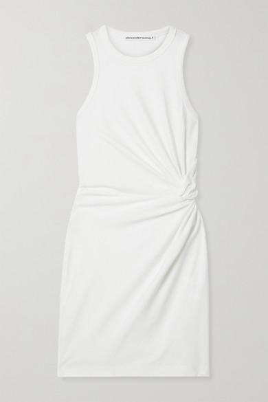 Casio KNOTTED COTTON-BLEND JERSEY MINI DRESS