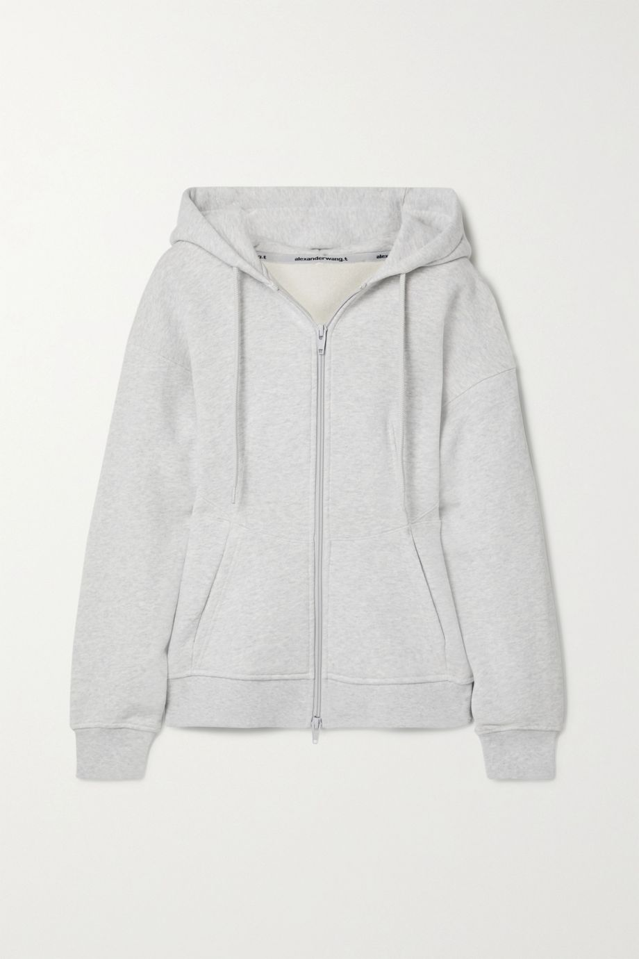 alexanderwang.t French cotton-terry hoodie