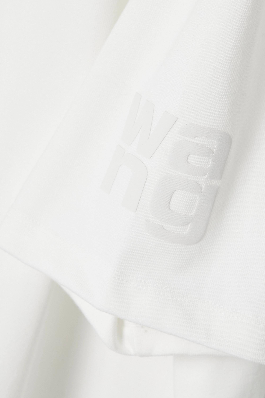 alexanderwang.t Oversized printed cotton-blend jersey T-shirt