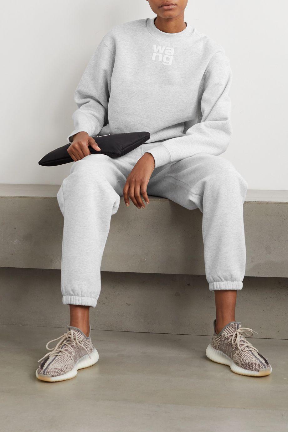 alexanderwang.t Sweatshirt aus Jersey aus einer melierten Baumwollmischung mit Print
