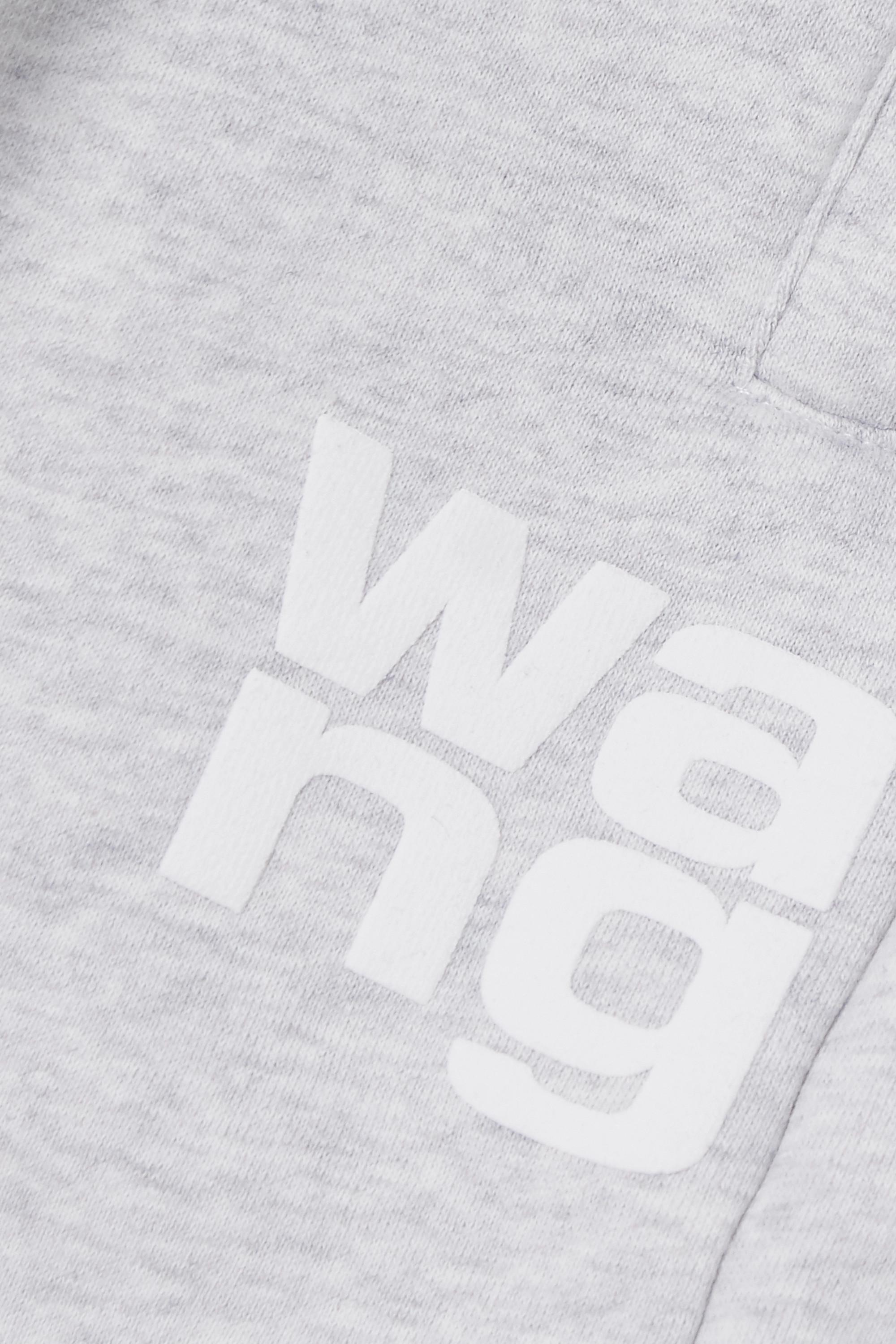 Light Gray Printed Mélange Cotton-blend Jersey Track Pants | Alexanderwang.t
