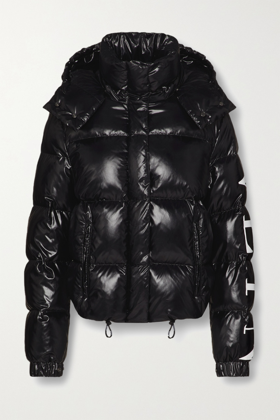 Valentino Hooded quilted glossed-shell down jacket