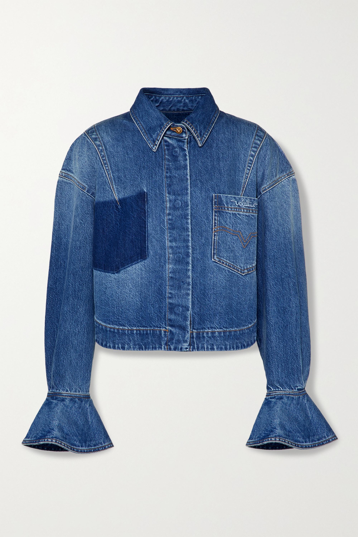 Valentino Ruffled denim jacket