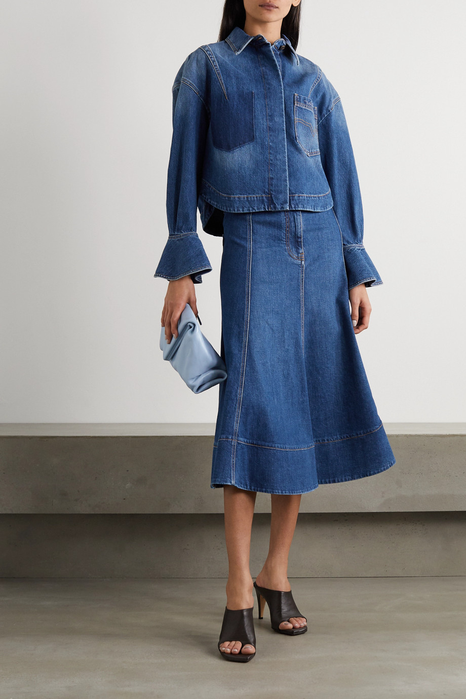 Valentino Ruffled denim jacket