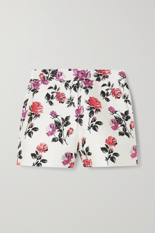 Valentino Metallic silk-blend brocade shorts