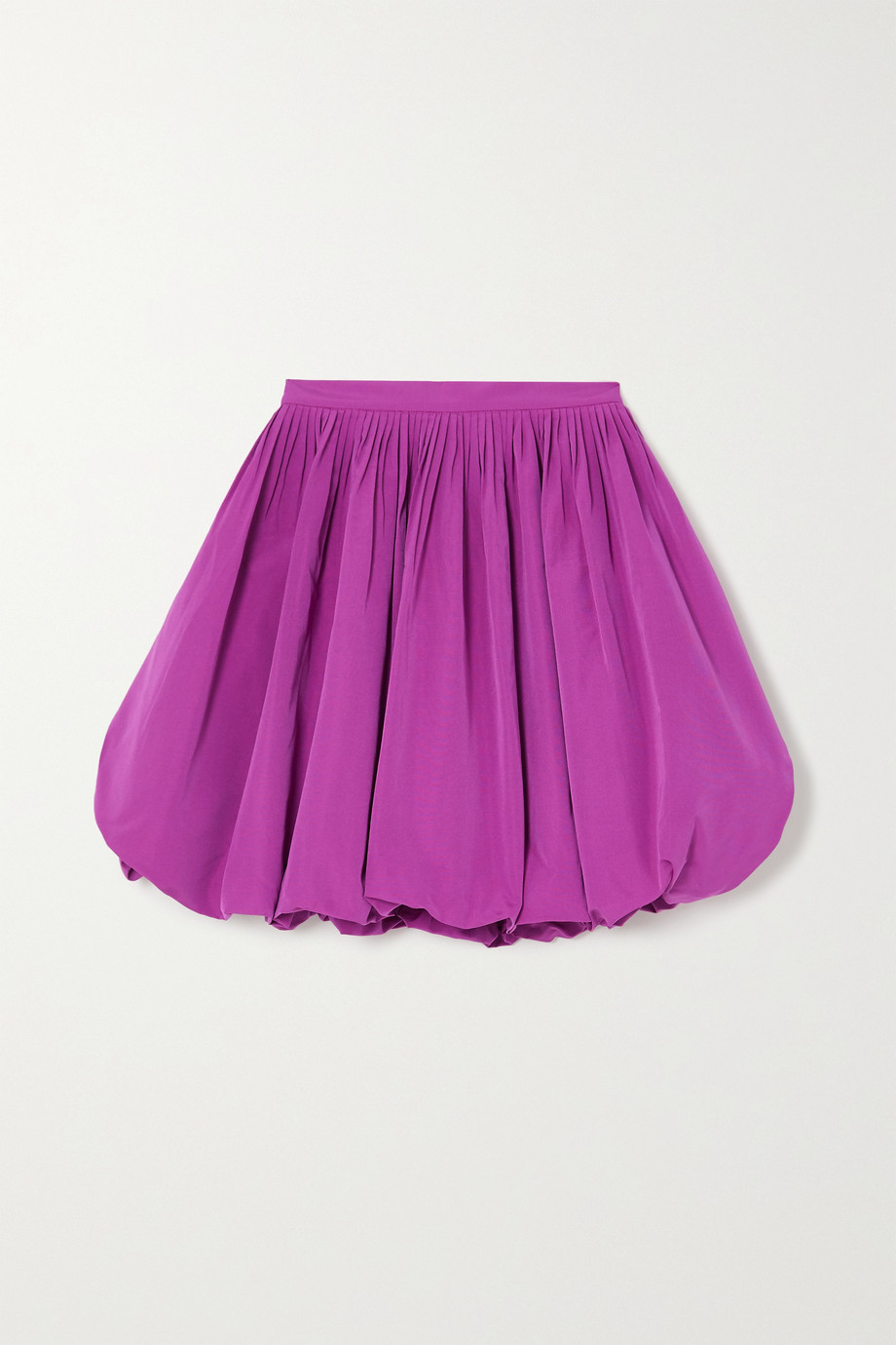 Valentino Pleated cotton-blend faille mini skirt