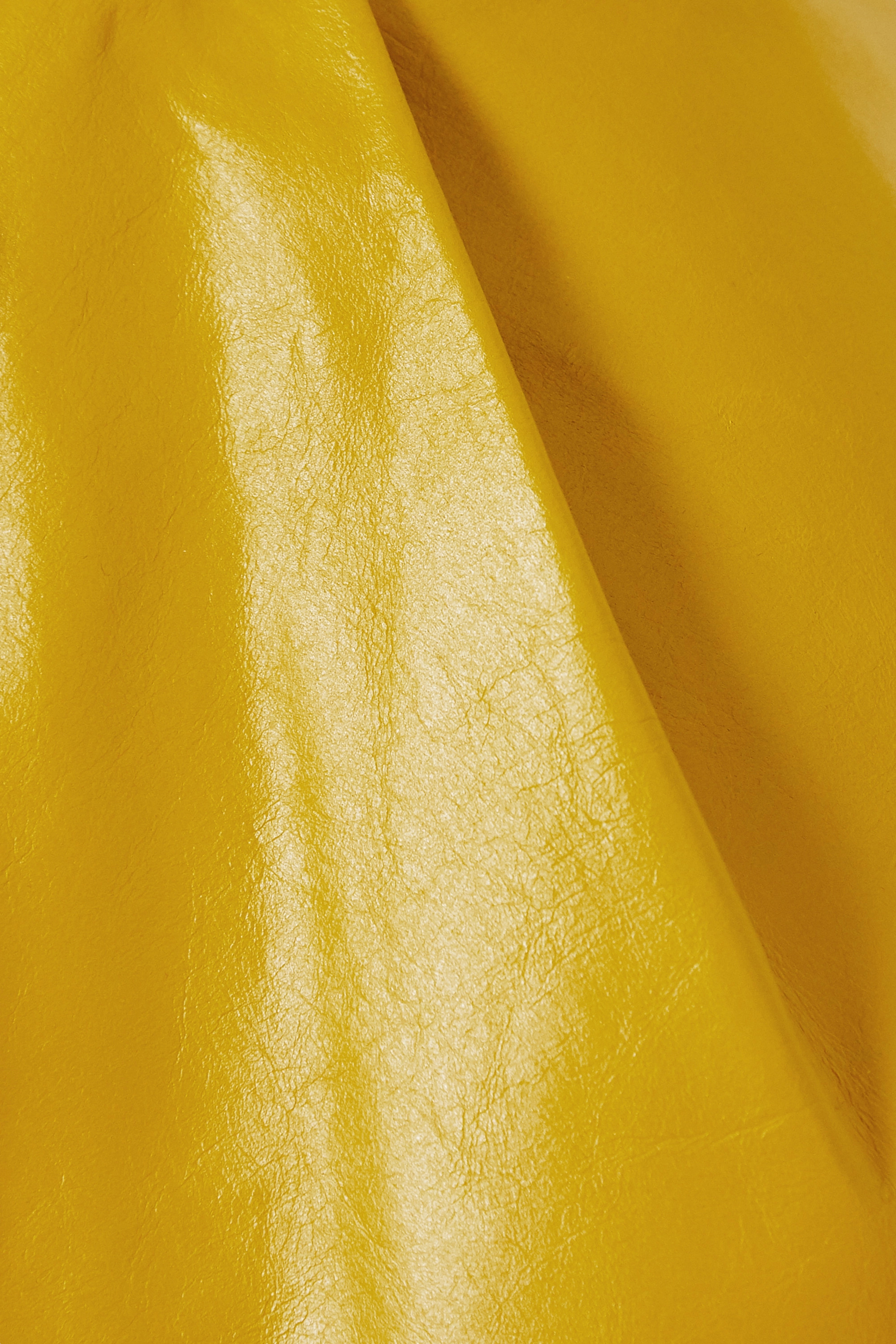 Valentino Belted crinkled glossed-leather midi skirt