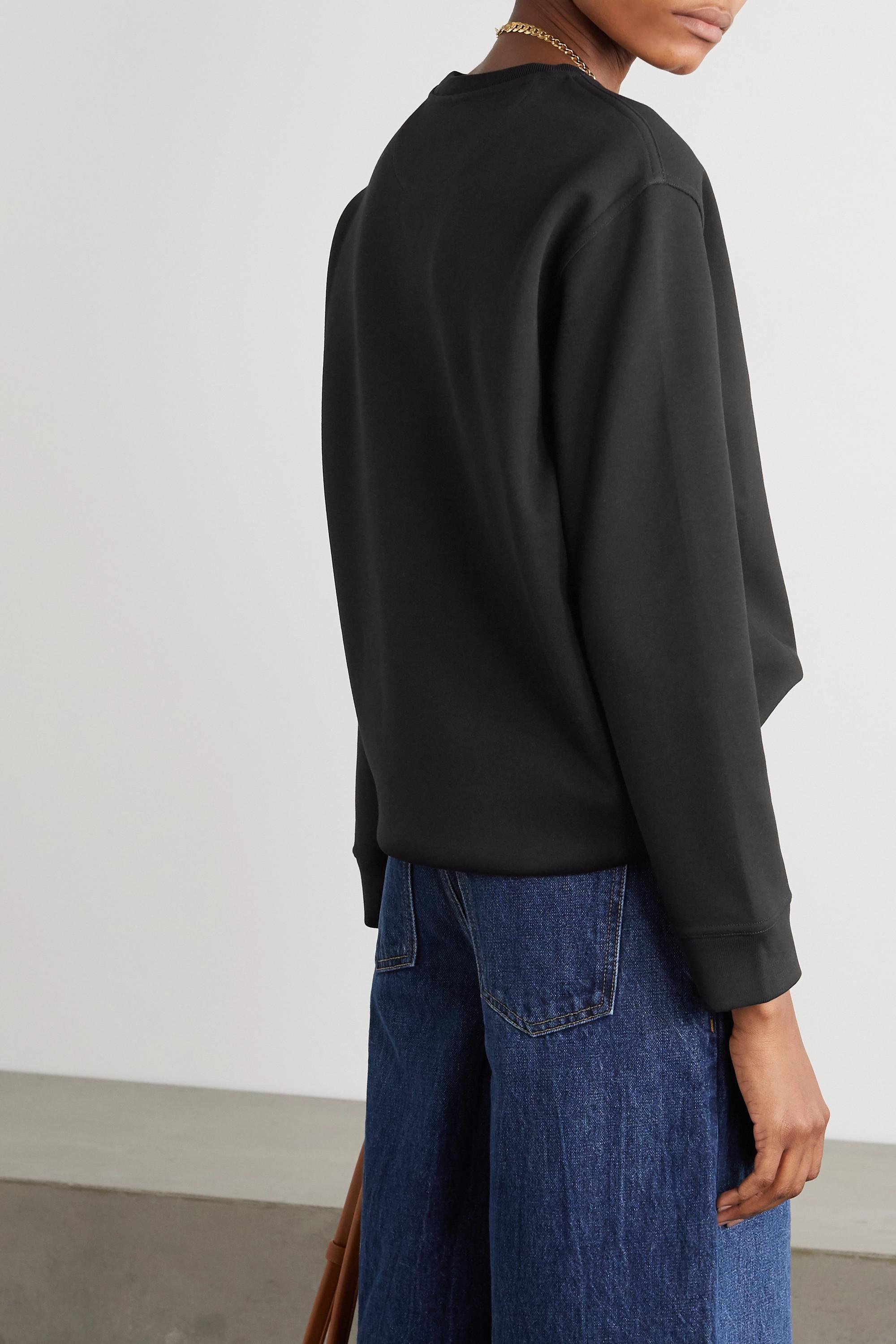 Valentino Printed cotton-blend jersey sweatshirt