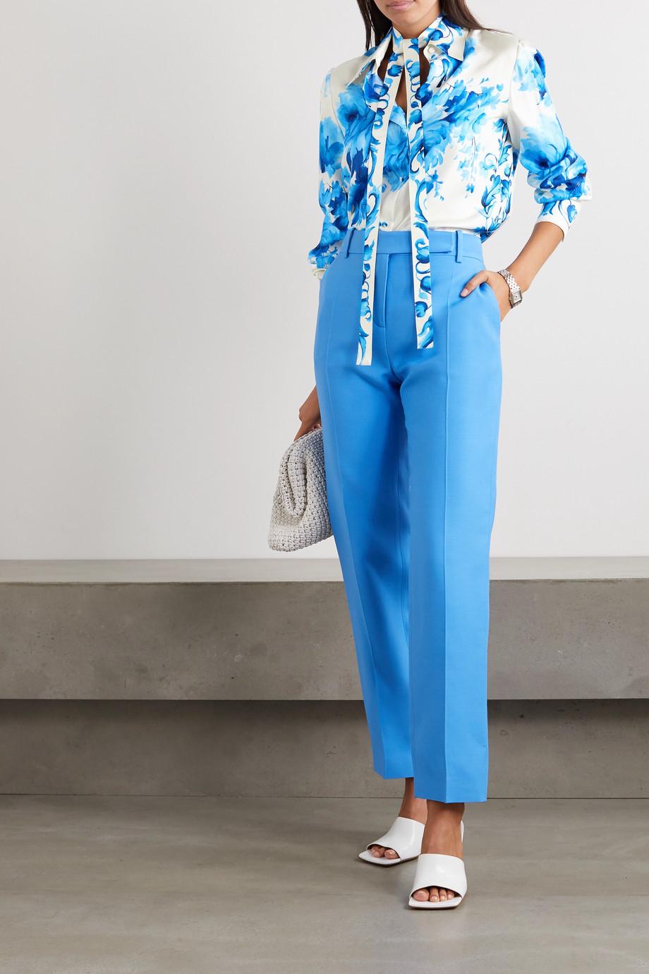 Valentino Hemd aus Seiden-Twill mit Blumenprint