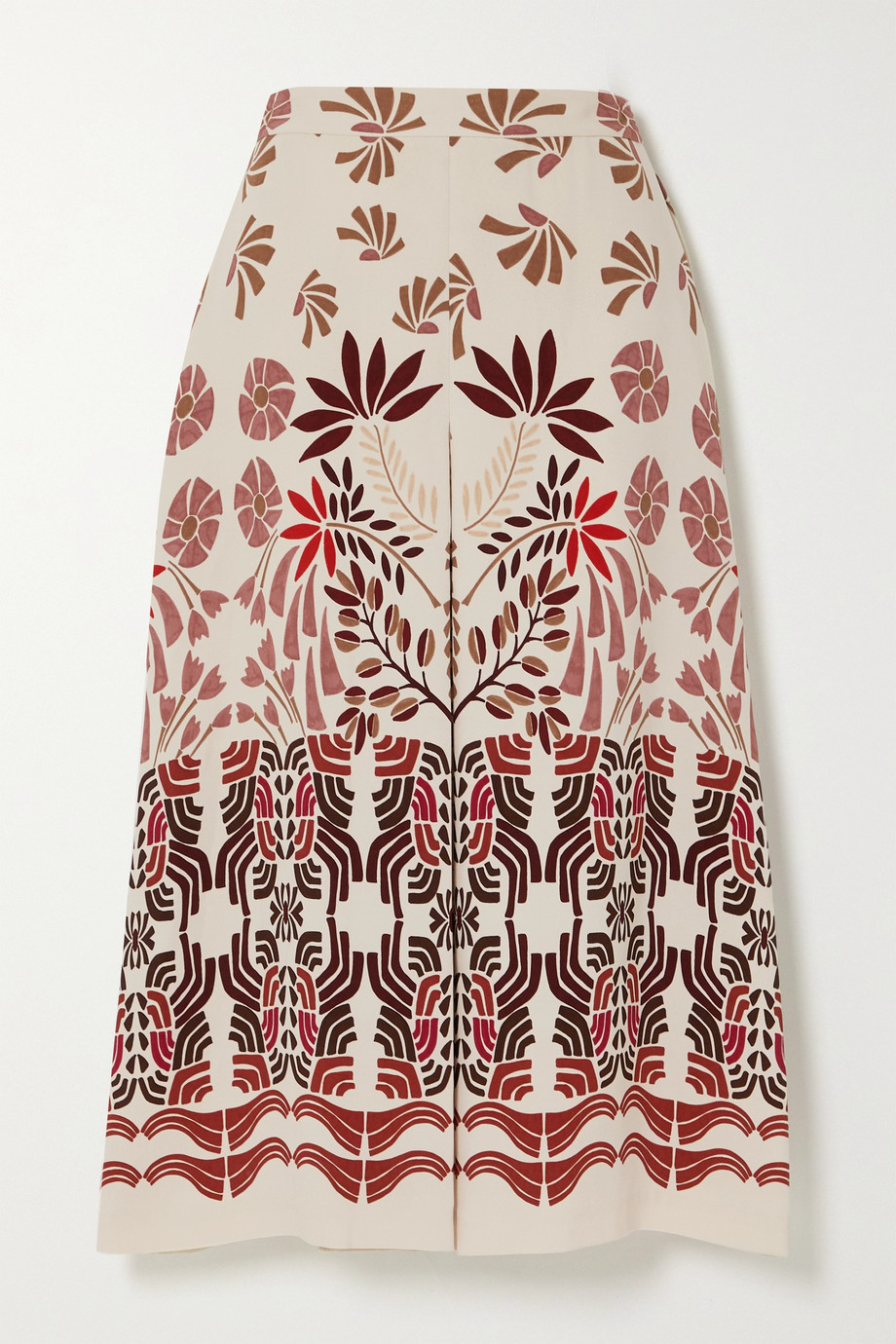 Loro Piana Printed silk-blend midi skirt