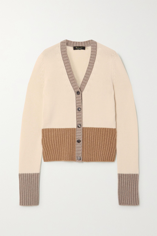Loro Piana Color-block cashmere cardigan