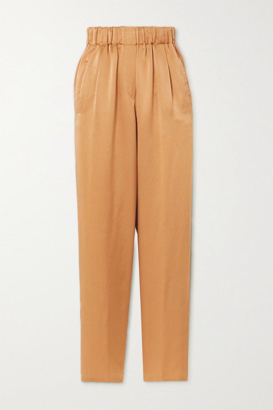 forte_forte Hammered silk-satin tapered pants