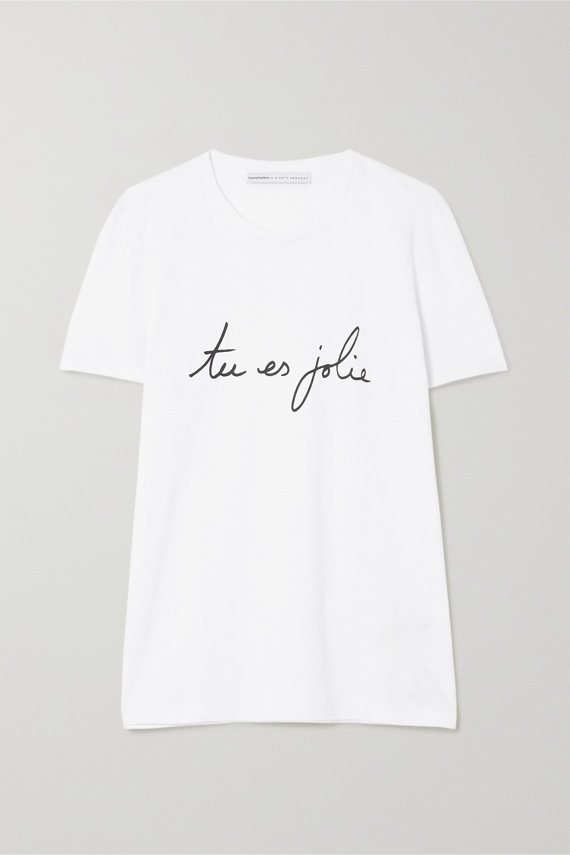 Carine Roitfeld Parfums International Women's Day printed cotton-jersey T-shirt