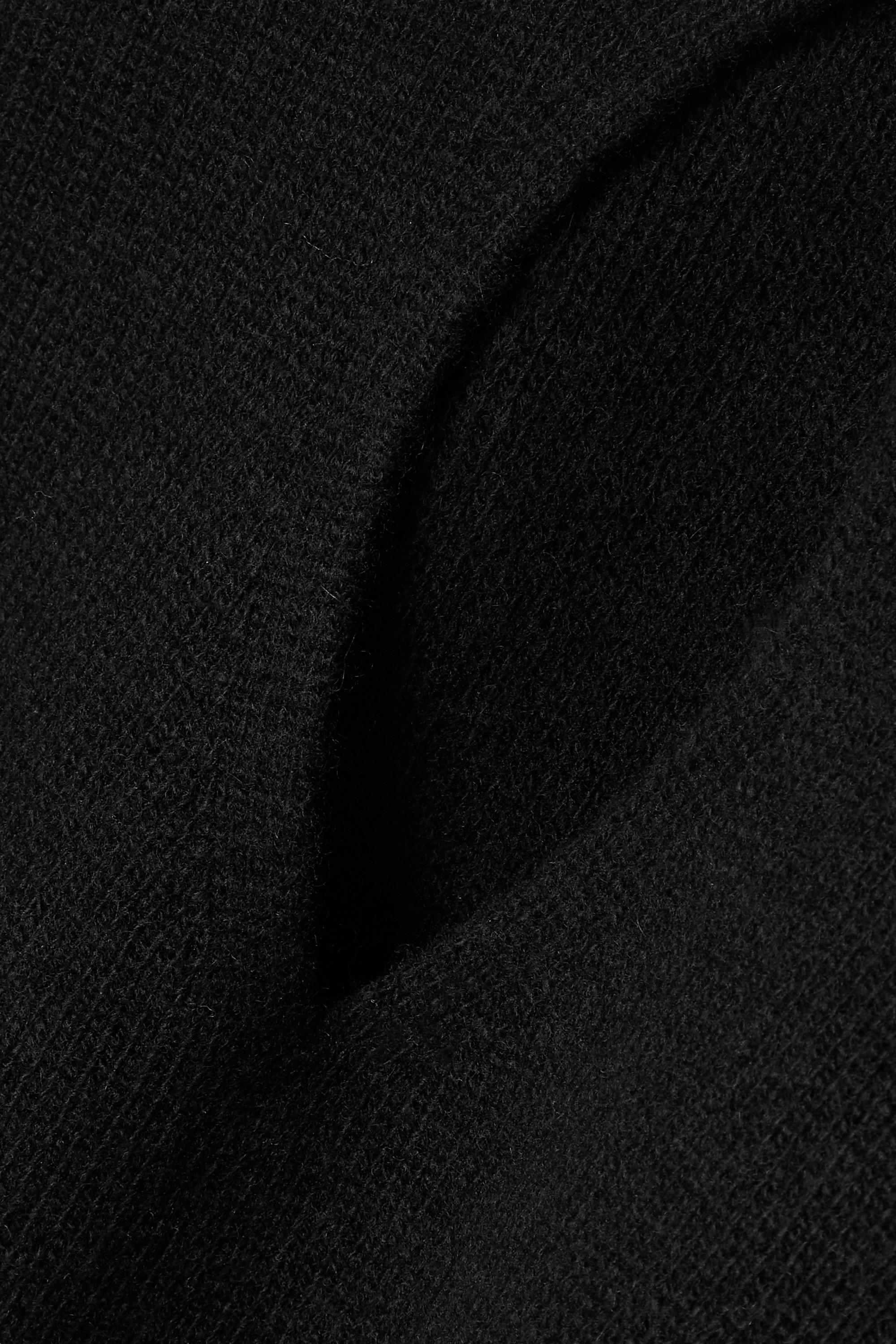 Alexander Wang Verkürzter Stehkragenpullover aus einer Wollmischung mit Cut-out und Kette