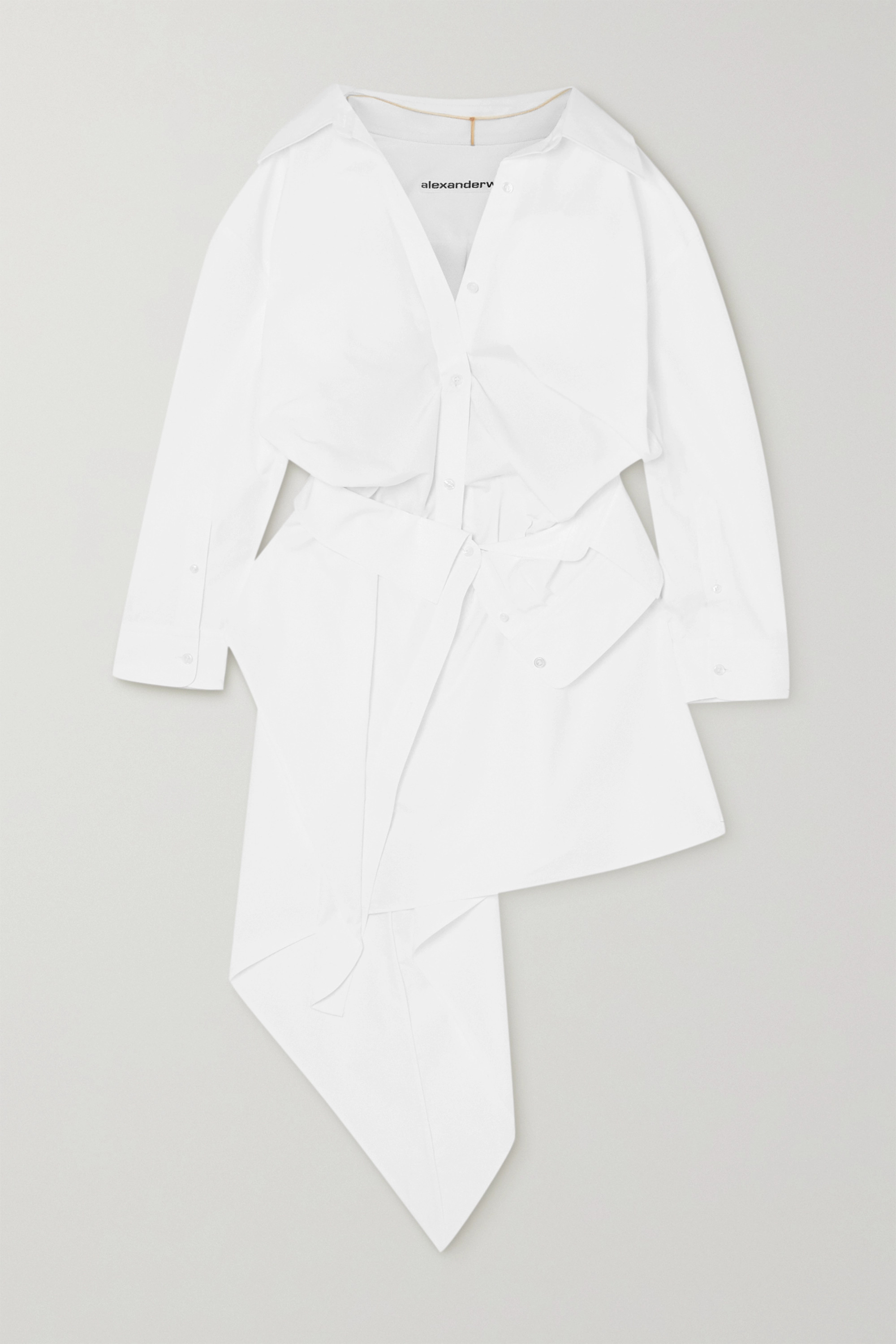 Alexander Wang Asymmetric cotton-poplin shirt dress