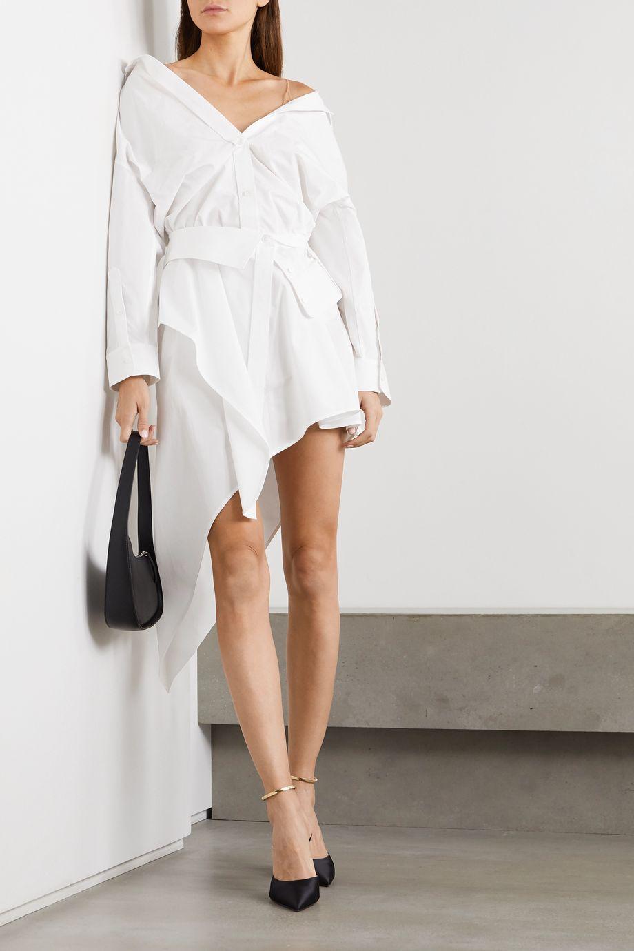 Alexander Wang Asymmetrisches Hemdblusenkleid aus Baumwollpopeline