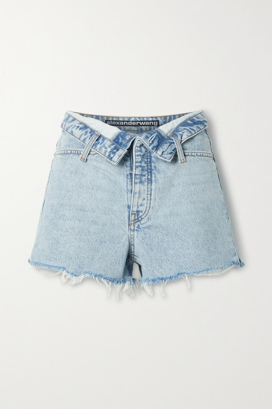 Alexander Wang Bite distressed denim shorts