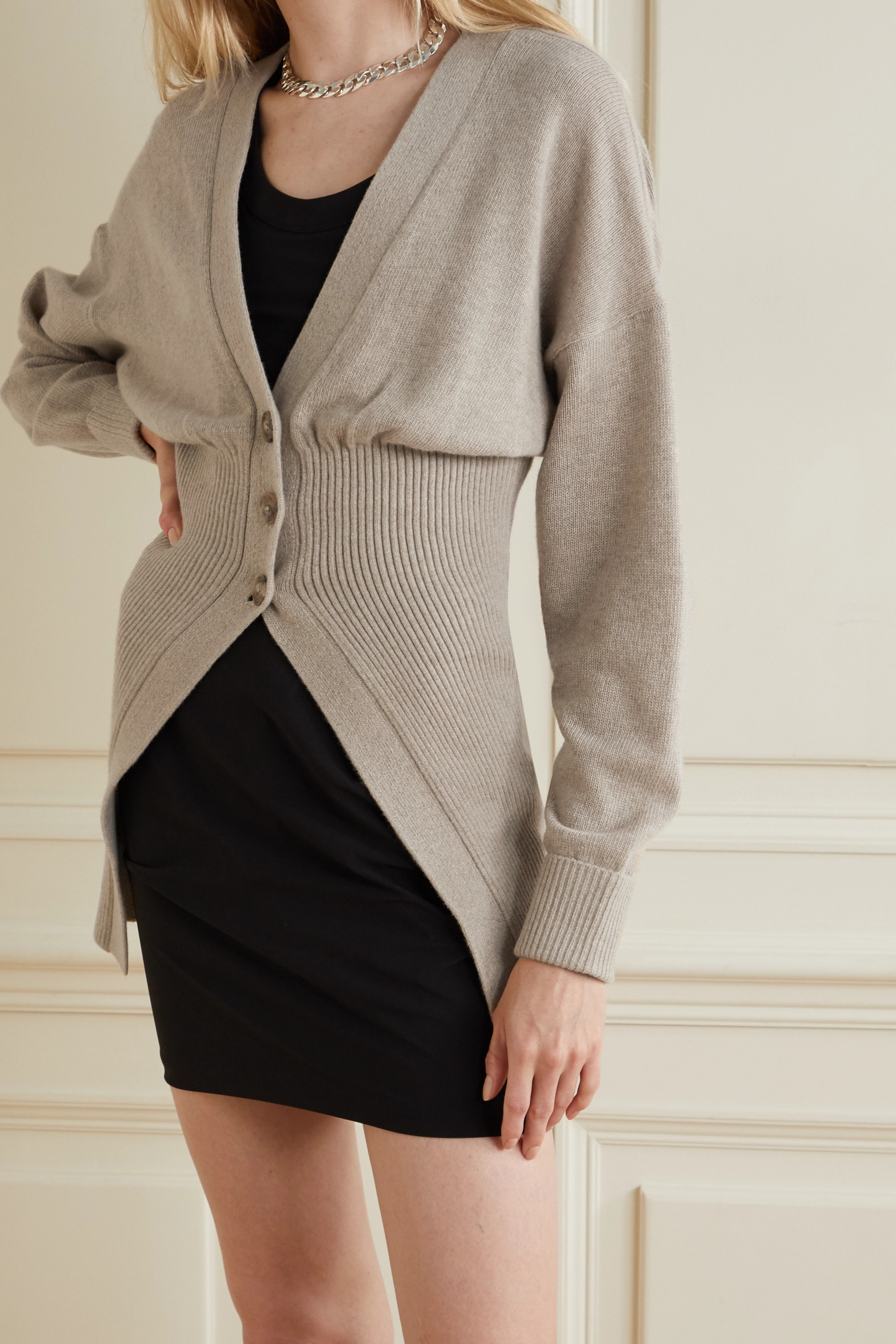 Alexander Wang Ribbed-knit cardigan